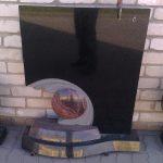 PAMINKLAI PASVALYJE  granito plok    i   dengimas foto 150x150 - Dviejų dalių paminklai