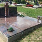 Paminklai kapų tvarkymas pigūs paminklai plokštės 150x150 - Trijų dalių paminklai