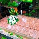 Paminklai Kapo tvarkymas Granito plokstes Kaunas Dvivietis kapas su granito bortais 150x150 - Plokštėmis dengti kapai