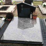 Paminklai Kapu tvarkymas dviem plokstem dengtas kapas Vilniuje 150x150 - Plokštėmis dengti kapai